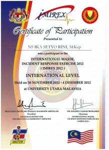 sijil peserta i-mirex NIS